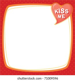 note frame - kiss me
