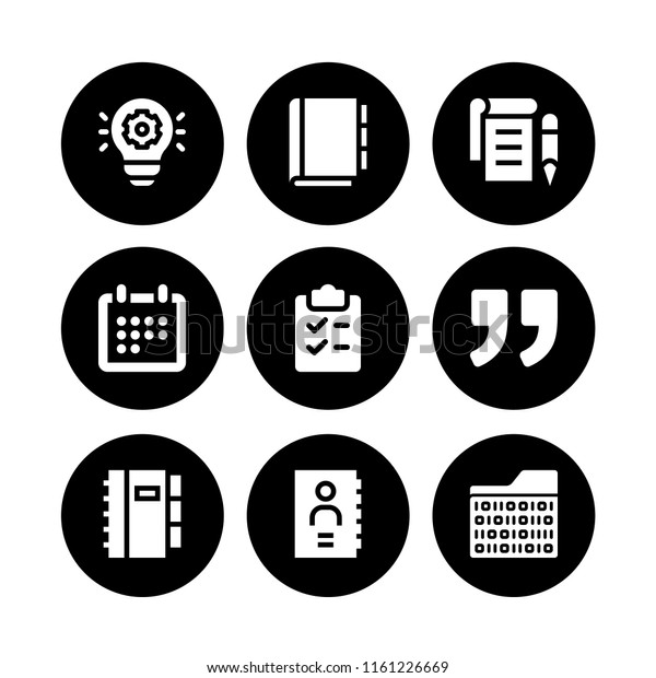 Note Icon 9 Note Set Address Stock Vector (Royalty Free