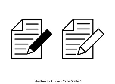 Note icon set. notepad icon vector