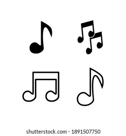 Note music icon vector isolated template