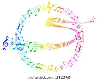 Note music score