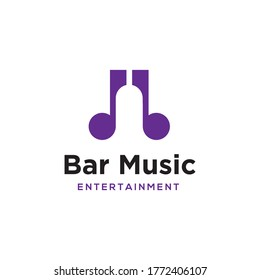 note music with wine beer bottle for bar or restaurant company