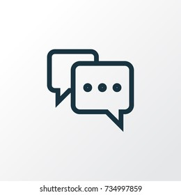 Note Outline Chat Icon Symbol. Premium Quality Isolated Comment Chat Icon Element In Trendy Style.