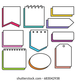 Note Pads With Outline Collection