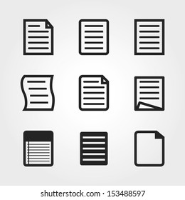 note paper icons