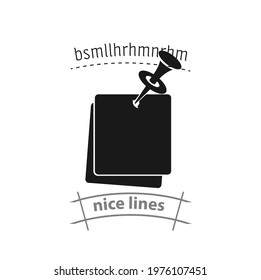 note paper with pushbutton simple vector icon. note paper with pushbutton simple vector icon. note paper with pushbutton simple vector icon.