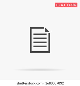 Note Taking flat vector icon. Glyph style sign. Simple hand drawn illustrations symbol for concept infographics, designs projects, UI and UX, website or mobile application.