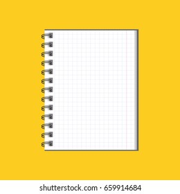 Notebook. Blank cover design. School business diary.