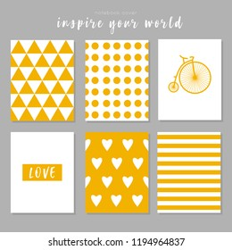Notebook cover, seamless pattern, yellow inspiration