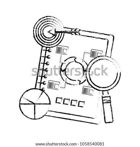 Notebook Diagram Finance Business Chart Target Stock Vector Royalty