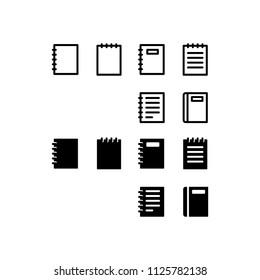 Notebook Icon Design Vector Symbol Note