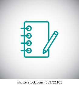 notebook icon flat.
