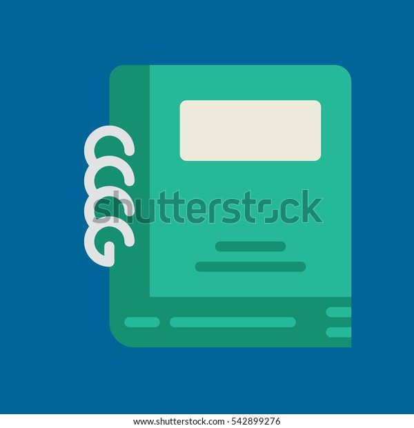 notebook icon flat disign