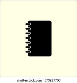 Notebook icon, organizer vector illustration