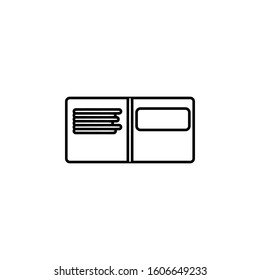notebook icon. Simple thin line, outline vector of web icons for ui and ux, website or mobile application