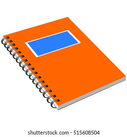Notebook with metal spiral