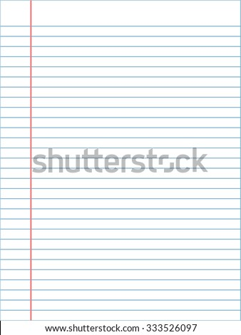 notebook page template lines vector stock vector royalty free