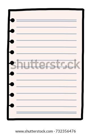 notebook paper cartoon vector illustration hand stock vector rh shutterstock com notebook paper vector free download torn notebook paper vector