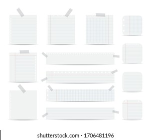 Notebook paper illustration on white background