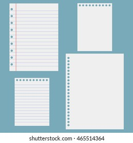 Notebook paper. Sheets of notebook