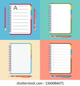 a notebook with a pencil or pen