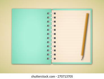 Notebook and Pencil Vector