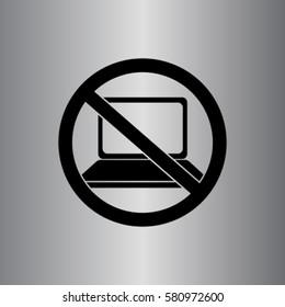 Notebook prohibition vector icon