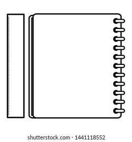 notebook school supply with rule