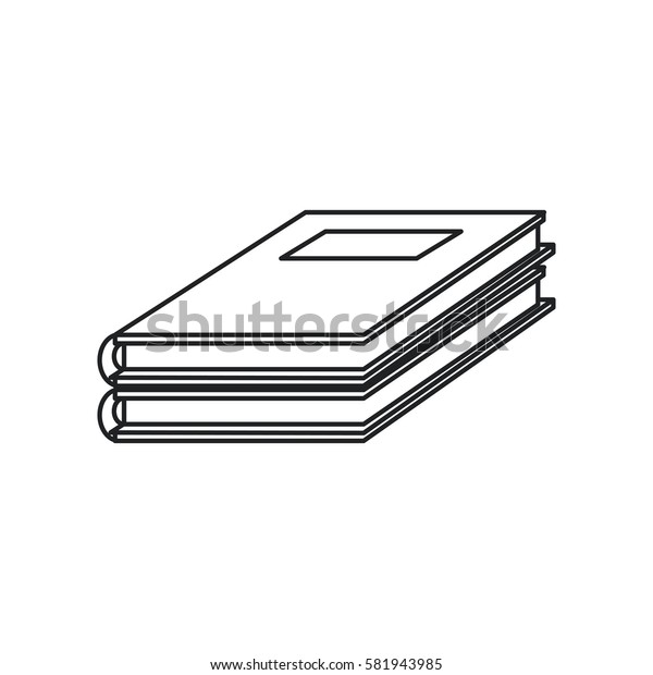 notebook study educational icon thin line