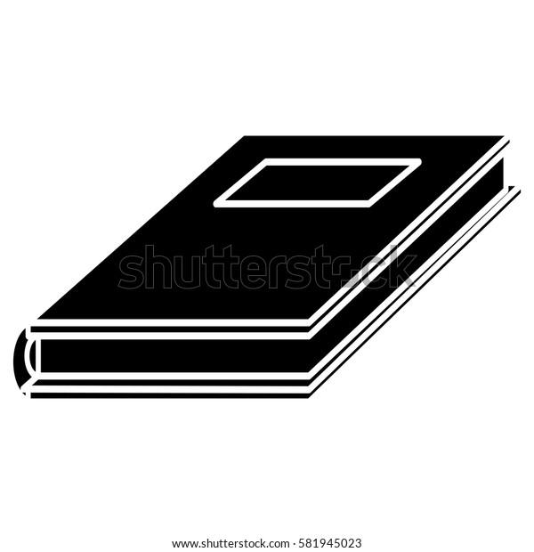 notebook study educational pictogram