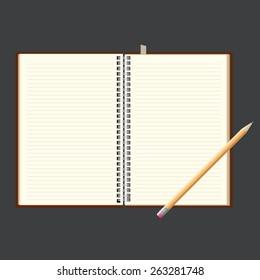 notebook vector design