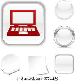 Notebook  white icon. Vector illustration.