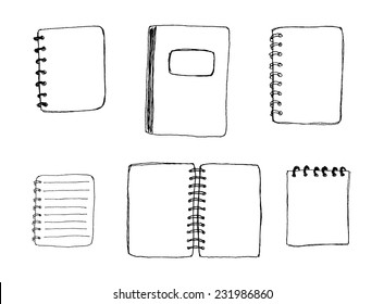 Notebooks set vector