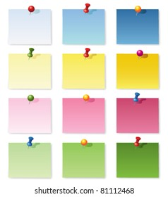 Notepad collection. Vector