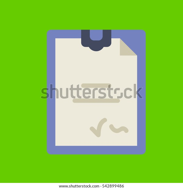 notepad icon flat disign