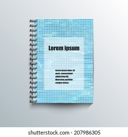 Notepad template with abstract background. Eps10 Vector illustration