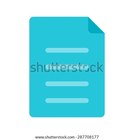 Notes Document List Icon Vector Image Stock Vector (Royalty