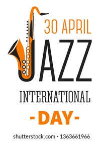 Notes and musical instruments isolated icons international jazz festival day vector music genre holiday saxophone and trumpet emblem or logo melody or song art show or concert play and listen
