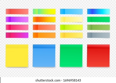 Notes stickers vector illustration.