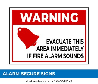 Notice Emergency Exit Only Alarm Will Sound When Door is Opened Sign In Vector, Easy To Use And Print Design Templates