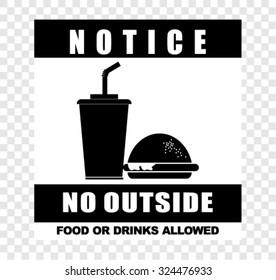 notice, no outside, vector