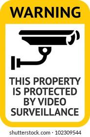 Notice Video Surveillance label