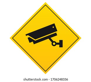 Notice and warning This Area Is Under 24 Hour Video Surveillance Symbol Sign, Vector Illustration, Isolate On White Background Label, CCTV Camera. Black Video surveillance sign. Vector isolated