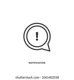 Notificaion Speech Bubble icon vector