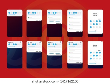 Notification Alerts on Smartphone Home Screen Phone User Interface User Experience UI Template Vector Illustration