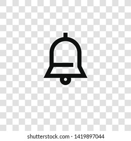notification icon from miscellaneous collection for mobile concept and web apps icon. Transparent outline, thin line notification icon for website design and mobile, app development