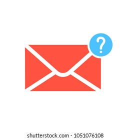 Notification icon with question mark. Notification icon and help, how to, info, query symbol. Vector icon
