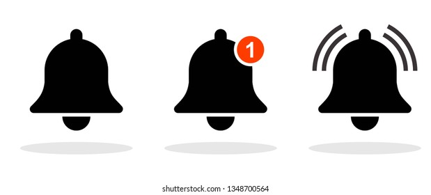 Notification icon in trendy flat style. New message / call symbol for your web site design, logo, app, UI Vector EPS 10. - Vector