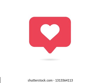 Notification Like icon. Social network app icon. Vector illustration