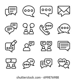 Notification Line Vector Icons Set